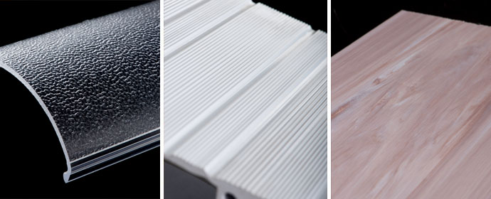 Plastic Extrusion Finishes | Smooth, textured, printing